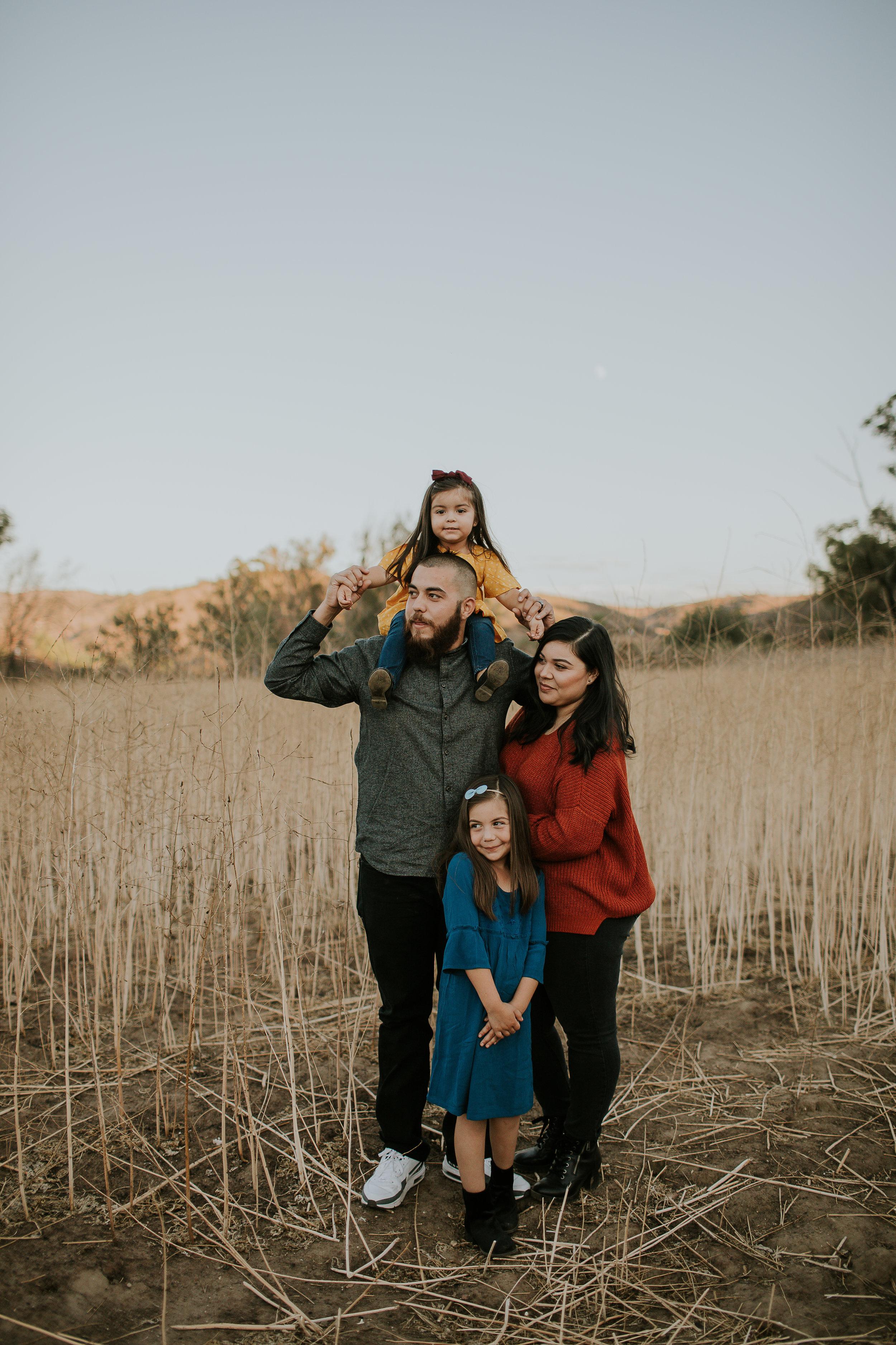 Canyon Sunset Family Session - Orange, Ca