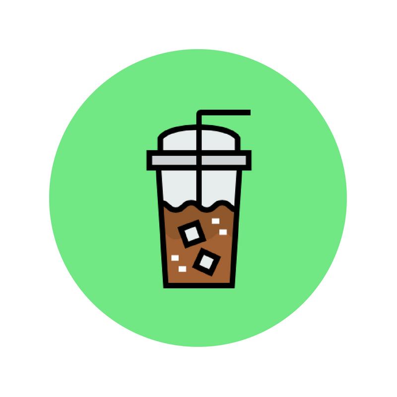 POWERED - by iced coffee