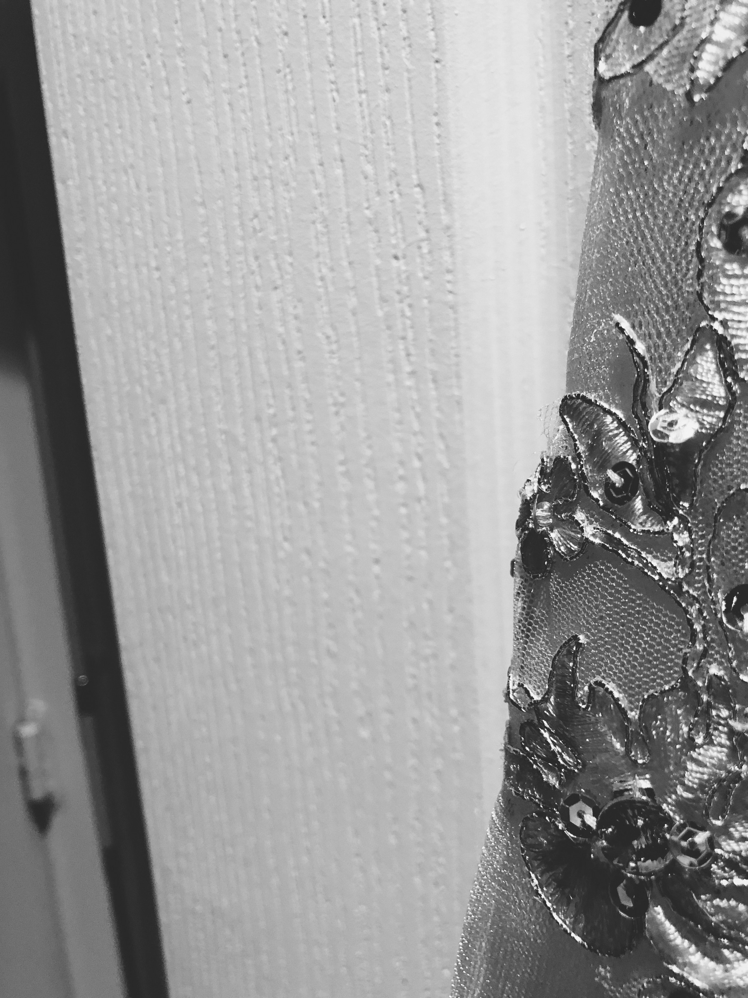The lovely detail on Maggie's gown.