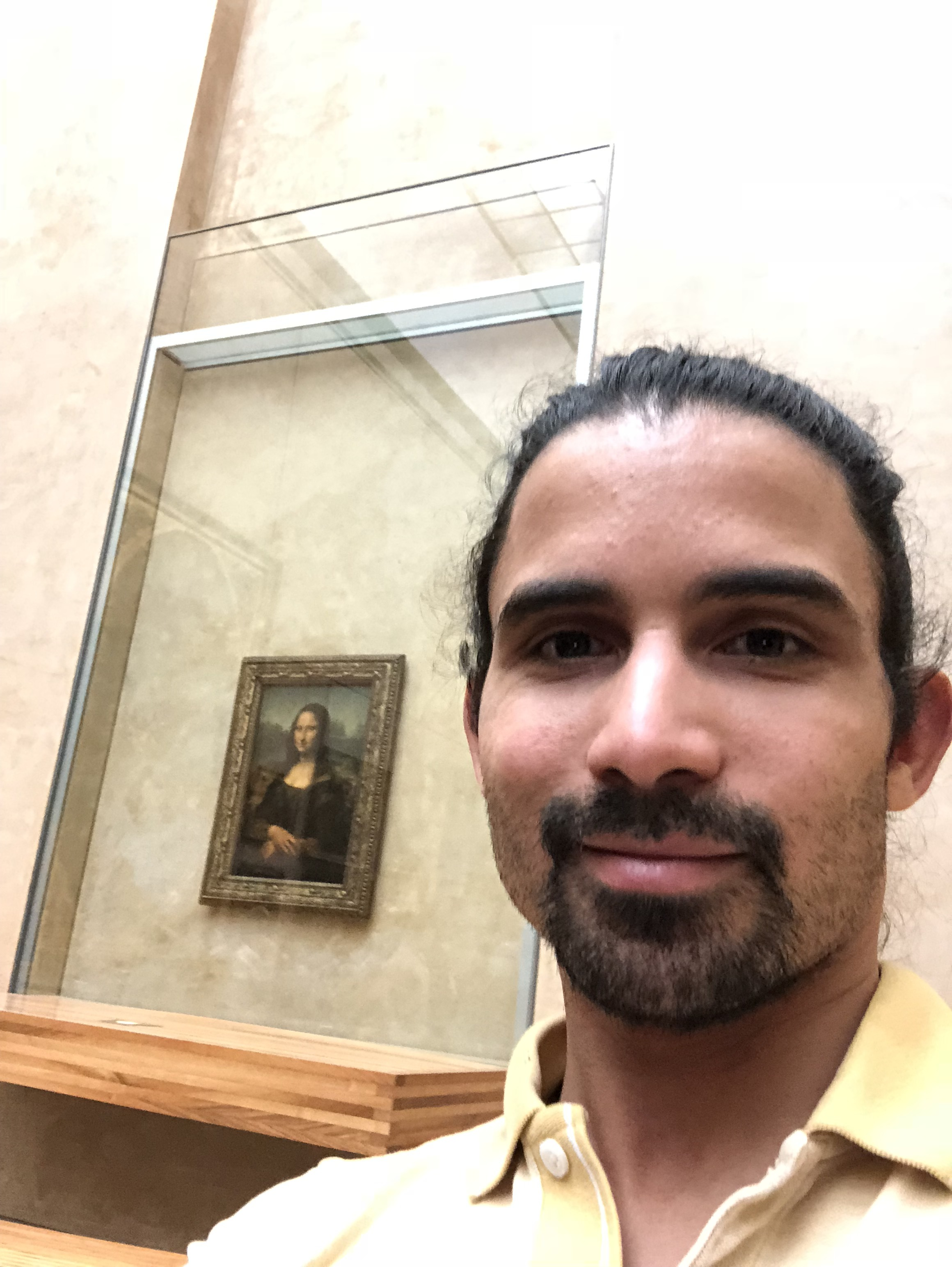 In all her glory. And Mona Lisa.