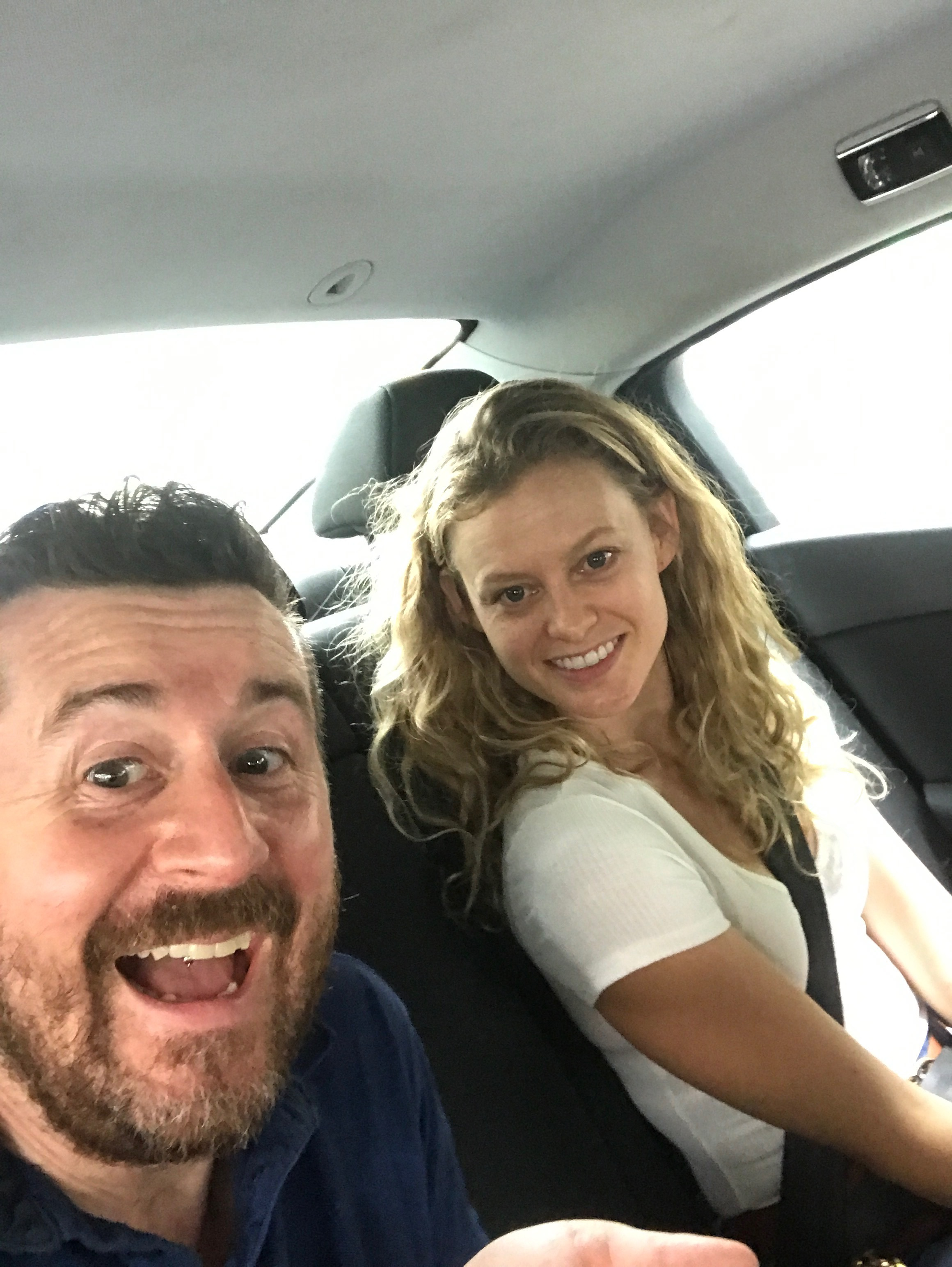 Two cheeky individuals gloating that their Uber driver didn't smell. Hilarious.