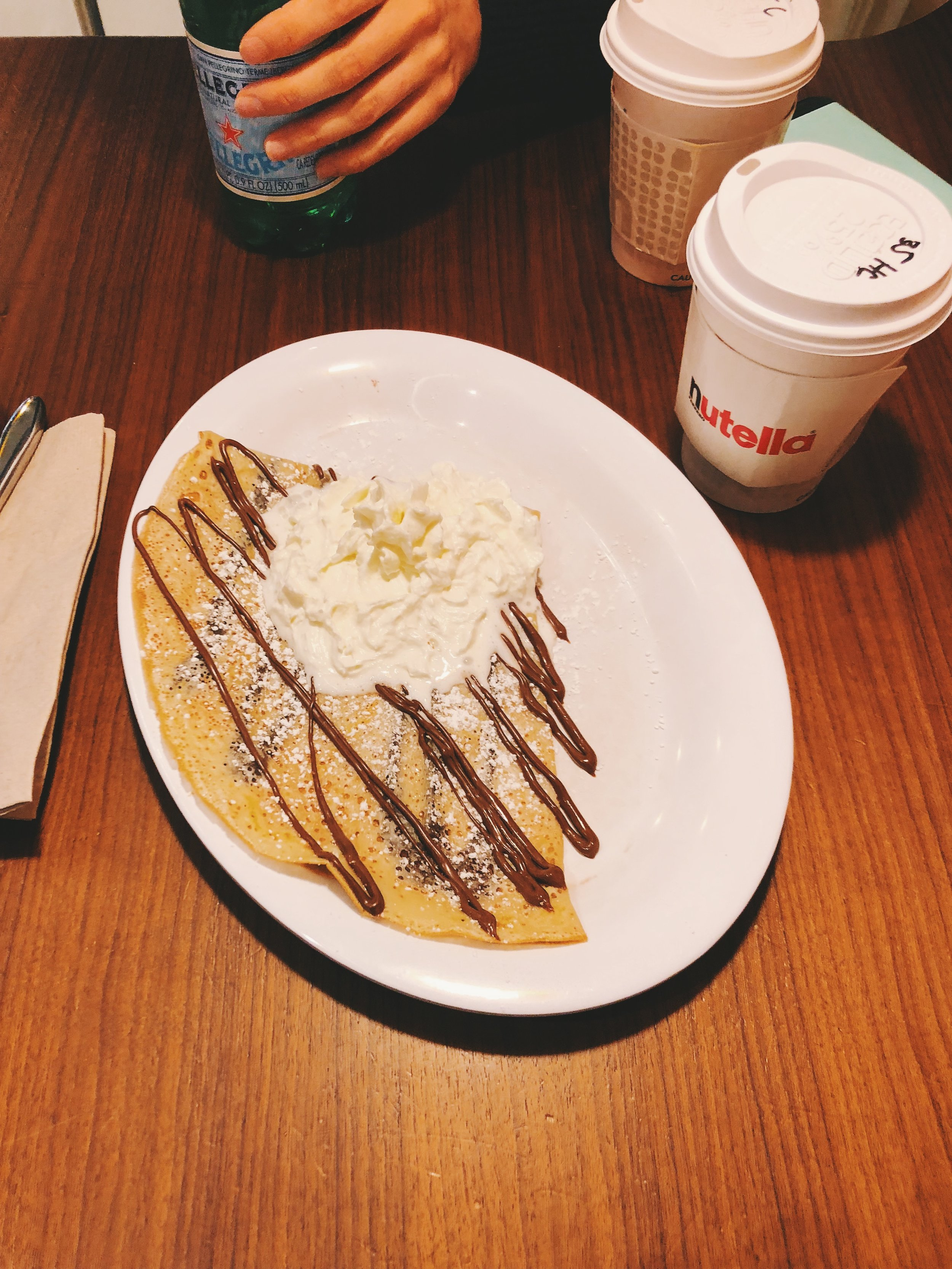 I actually enjoyed this more than the one crepe I ate in Paris. But do not tell Paris that. I'm not trying to start WWIII.