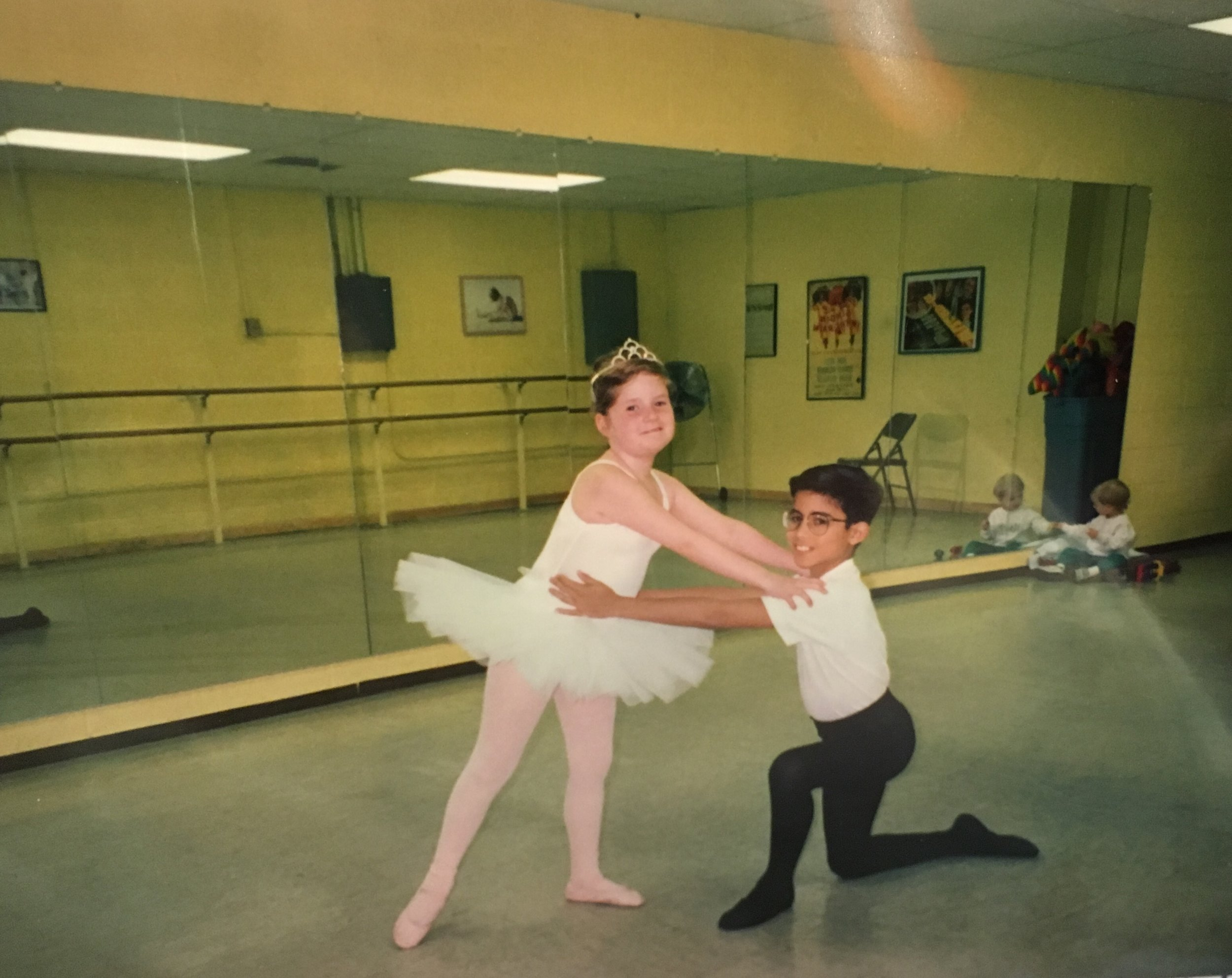 My second year of ballet training. Photo Credit: My Mom