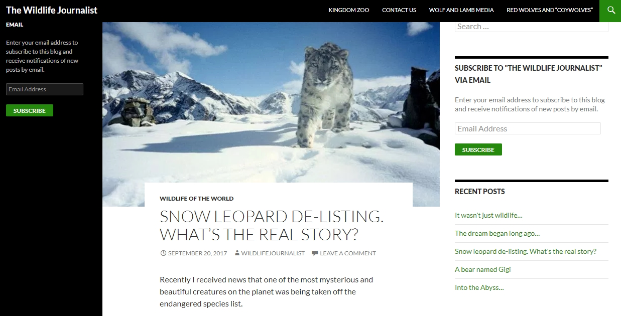Recently I received news that one of the most mysterious and beautiful creatures on the planet was being taken off the endangered species list. I am talking about the snow leopard. Listing and delisting a species can come with a lot of confusion as subjects like this one deal with everything from extremely difficult  ... read more