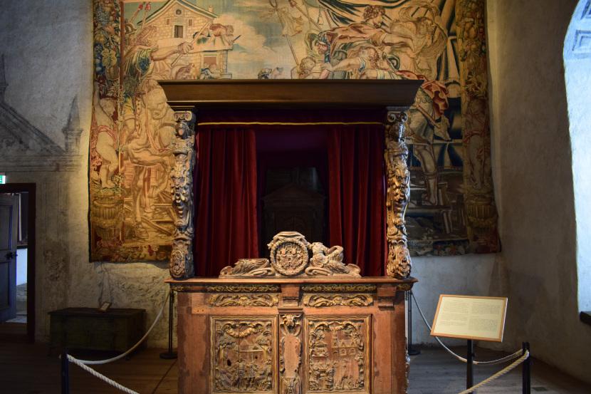 Kalmar Castle, bed from 1628