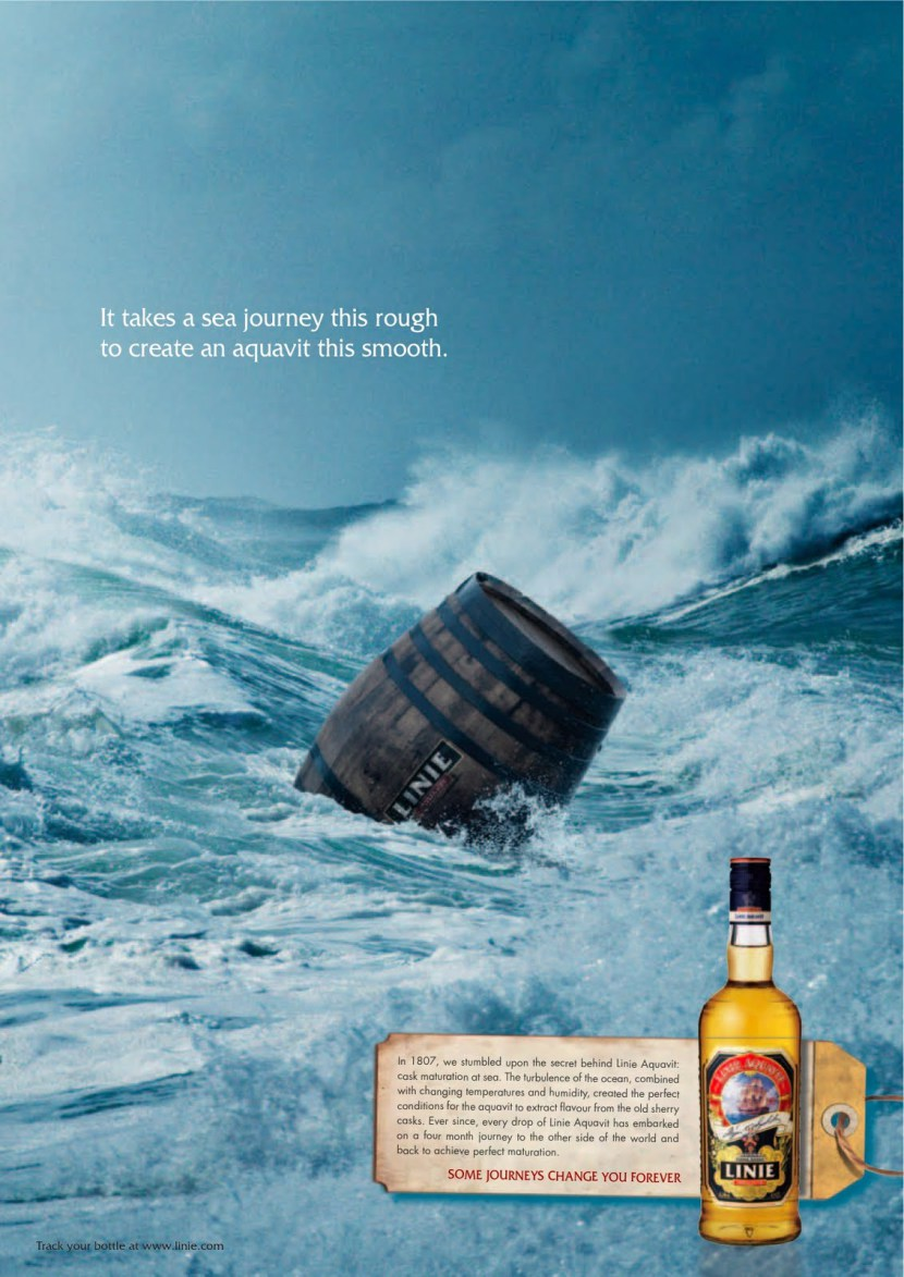 Norwegian aquavit's ad, source:    http://michaellanghoffphotography.blogspot.se