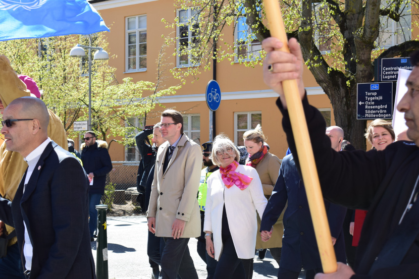 Malmö on the Labour Day: my first trial – he is behind a stick