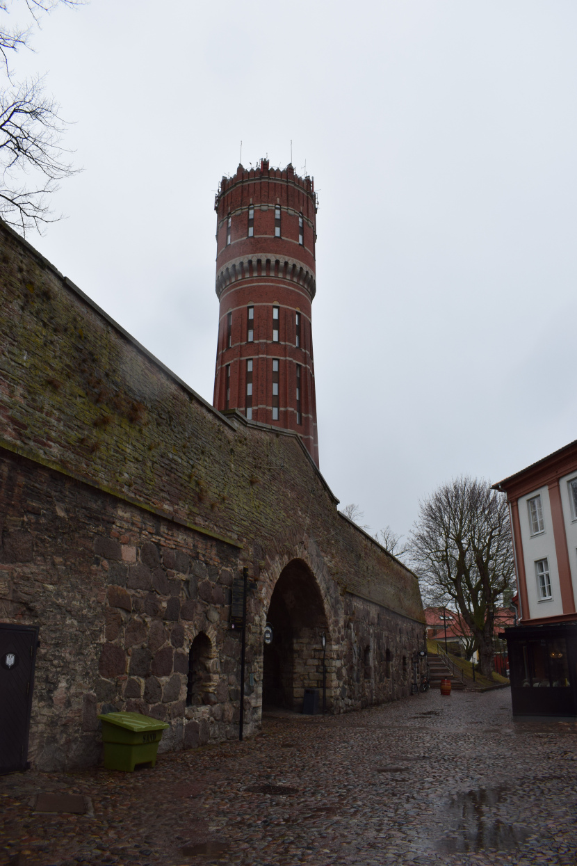 the western gate and the water tower