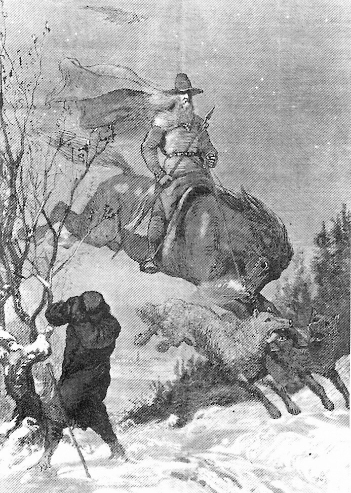 August Malmström, Odin continued to hunt in Swedish folklore, source: en.wikipedia.org