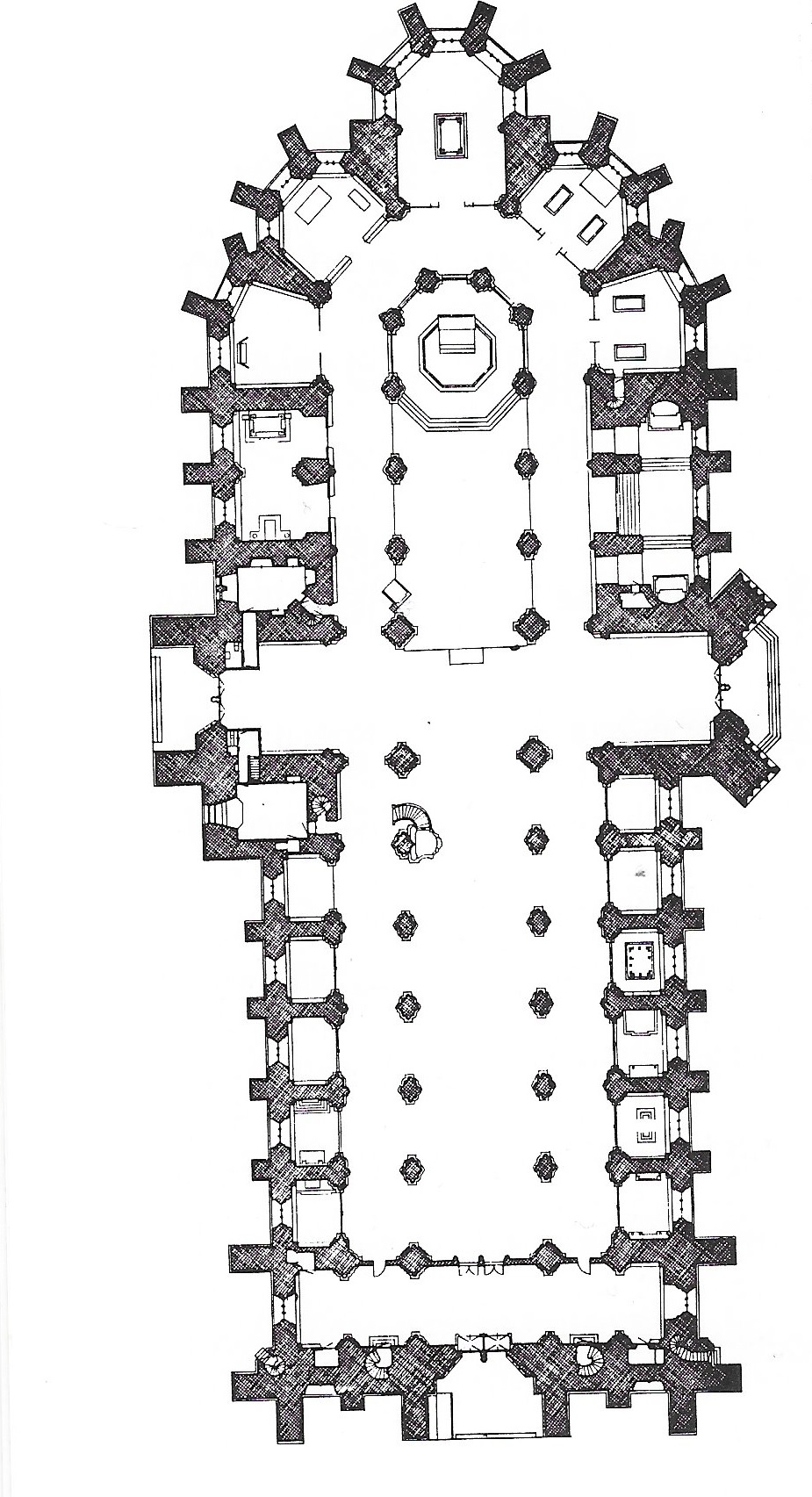 the plan of the cathedral
