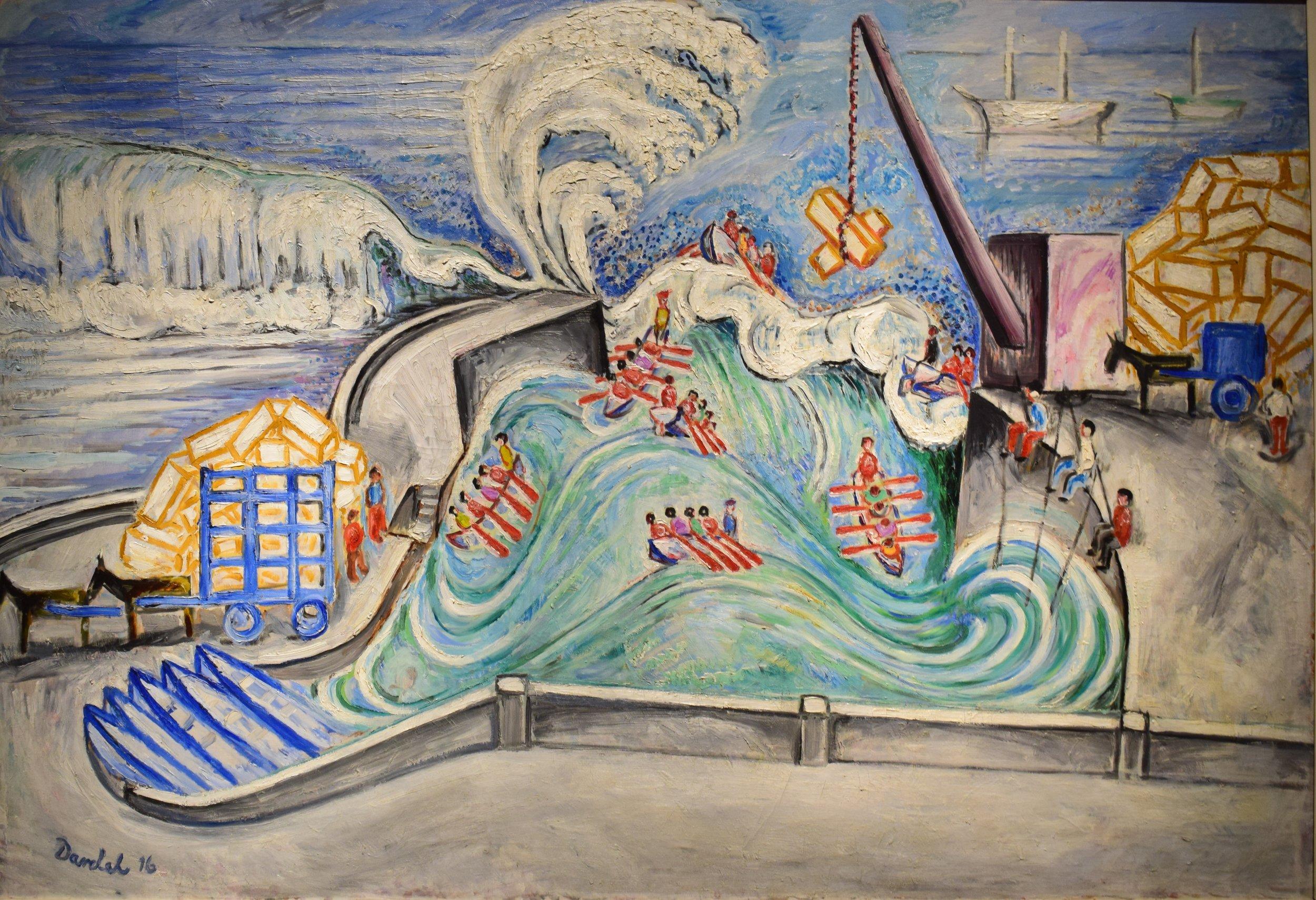 Nils von Dardel, Hamn vid Atlantiska Oceanen (Atlantic Port), 1916