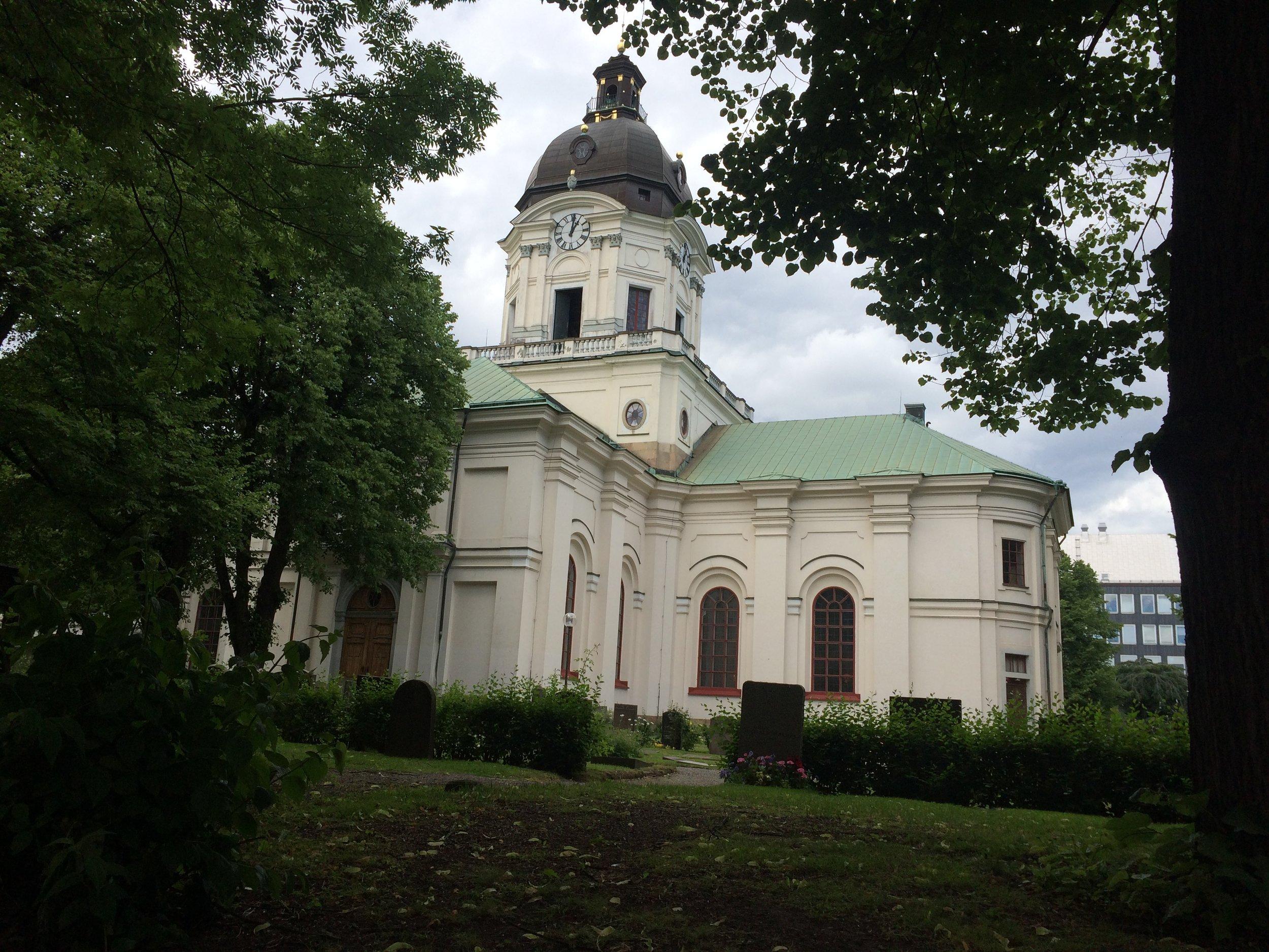 Carl Fredrik Adelcrantz, Adolf Fredriks kyrka (Church of Adolf Fredrik), 1768-1774, Stockholm