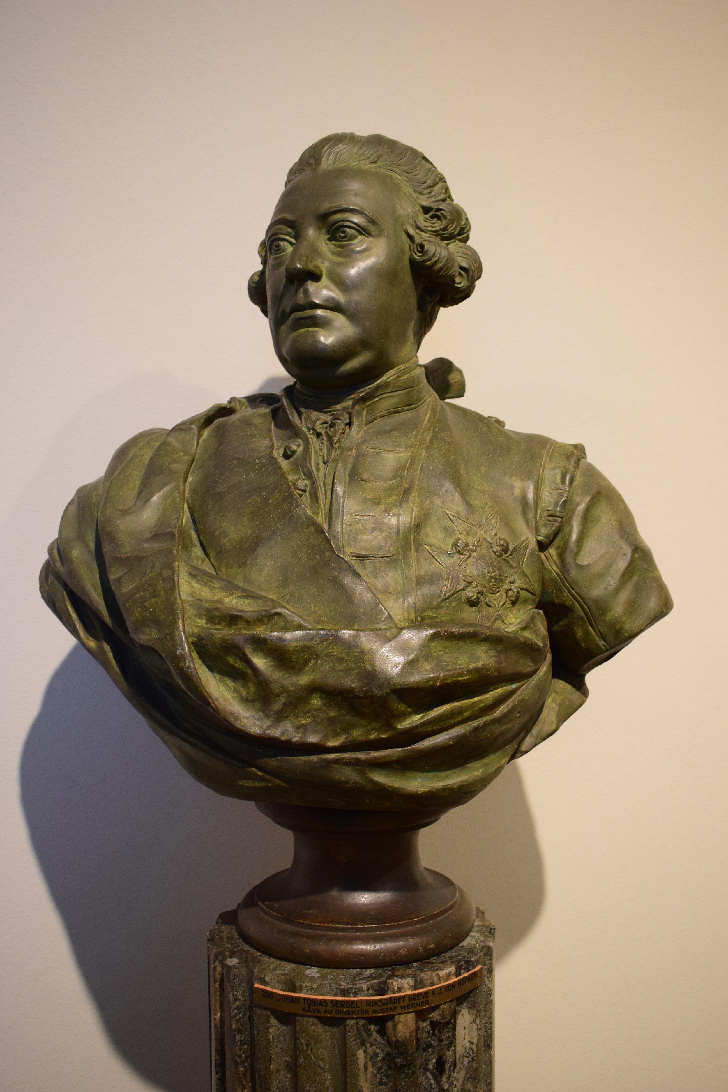 Johan Tobias Sergel, Riksrådet greve Anders Johan von Höpken