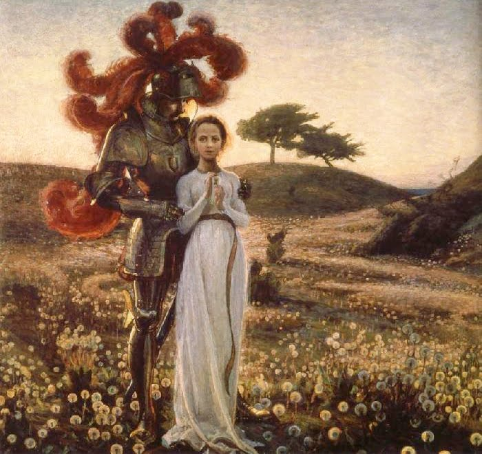 Richard Bergh, Rycerz i Panna, 1897