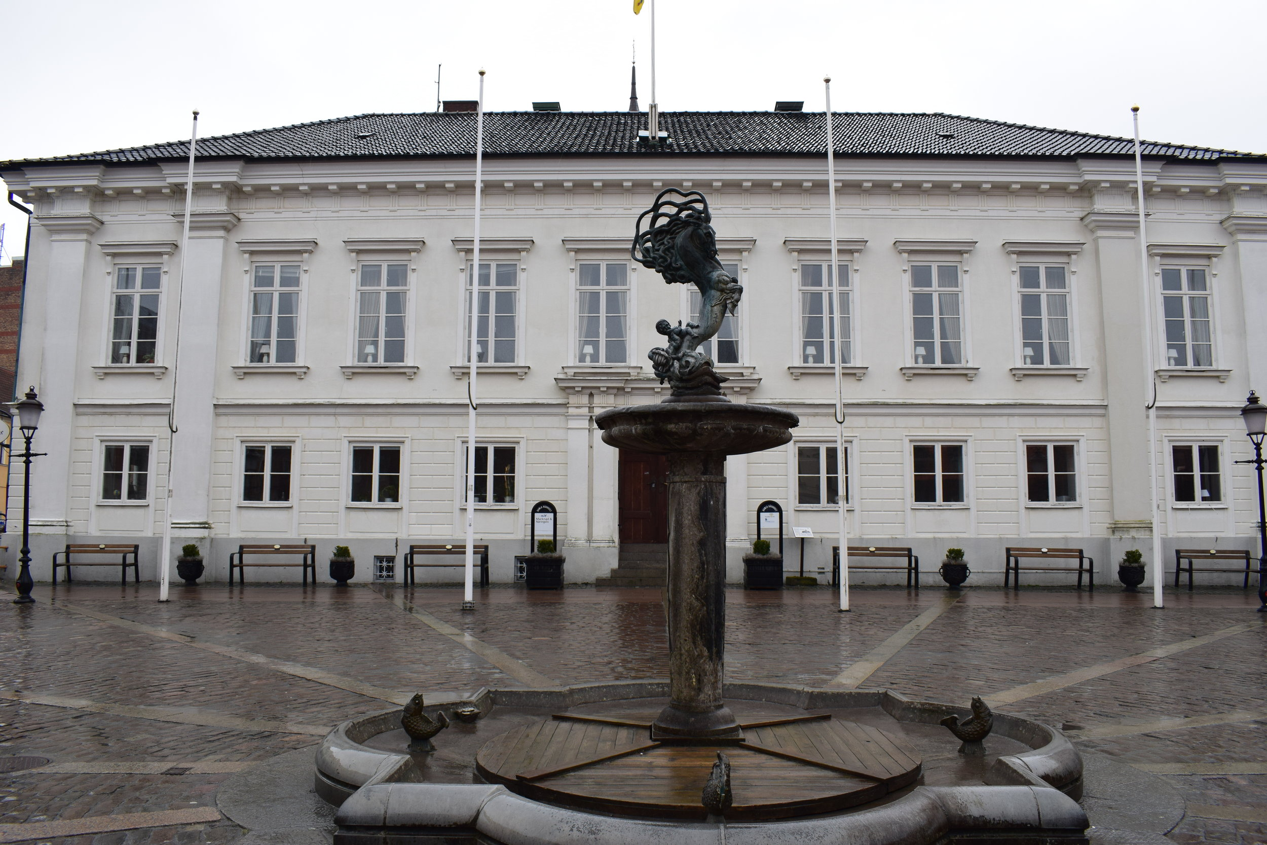 Ystad, the city hall