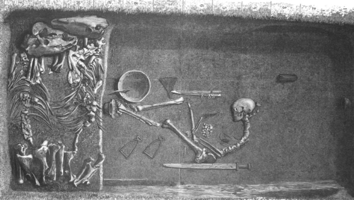 An illustration of Bj 581 grave