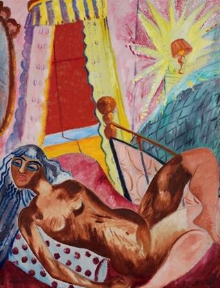 Sigrid Hjertén, Hjerten, The Red Blind, 1916, Moderna Museet, Stockholm, Sweden, source: www.flickr.com