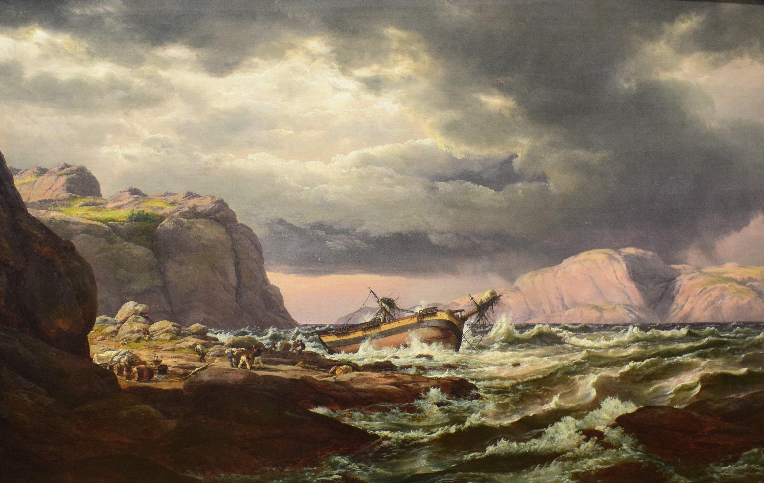 Johan Christian Dahl, Skibbrudd, 1832, Nasjonalmuseet