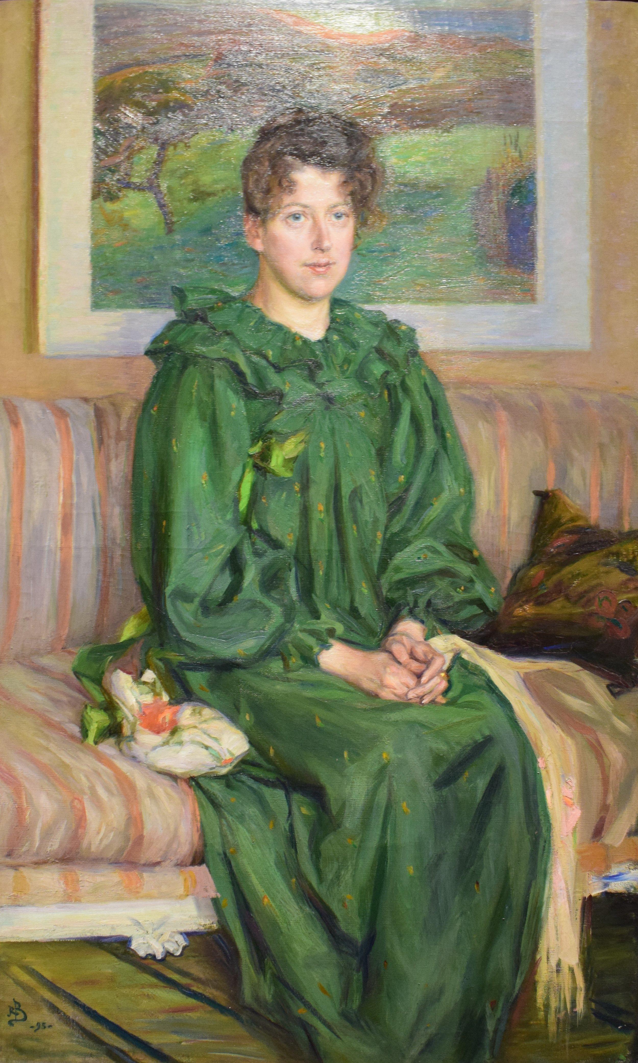 Richard Bergh, Portrait of Gerda, 1895, Nasjonalmuseet
