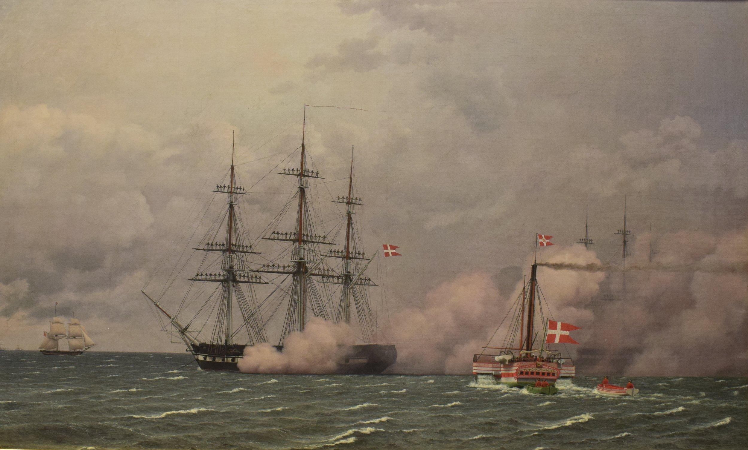 Christoffer Wilhelm Eckersberg, The Harbour of Copenhagen on the 1st of May 1832, Nasjonalmuseet