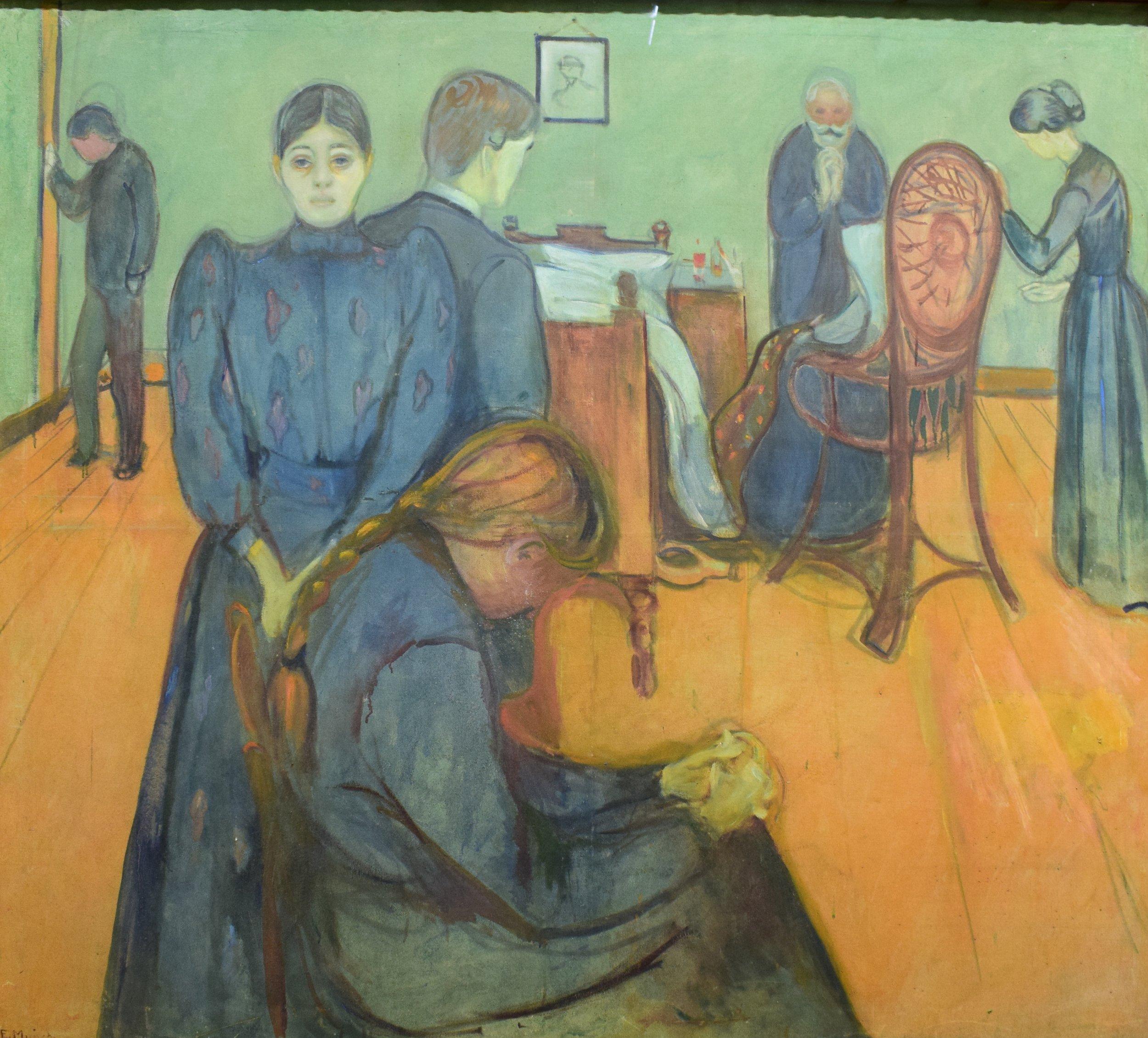 Edvard Munch, Death in the Sickroom, 1893, Nasjonalmuseet