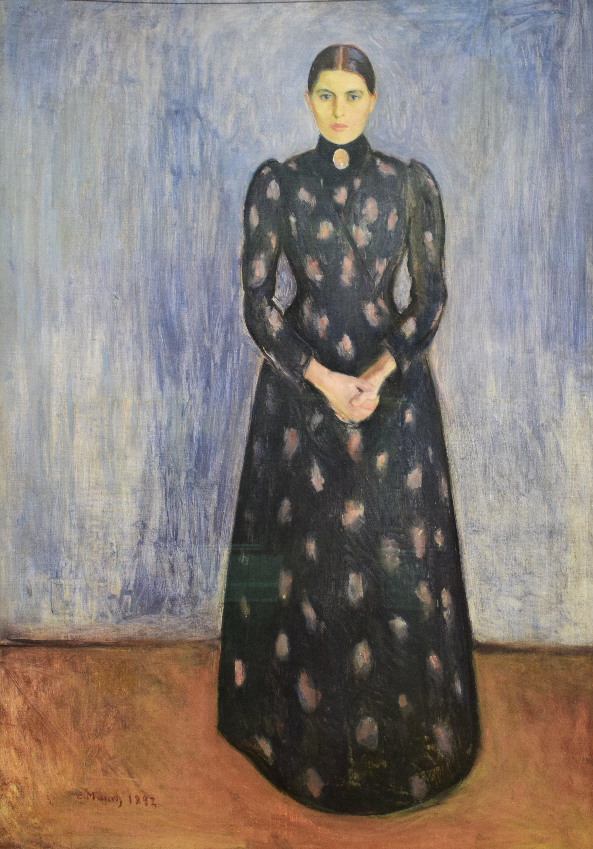 Edvard Munch, Inger in Black and Violet, 1892, Nasjonalmuseet