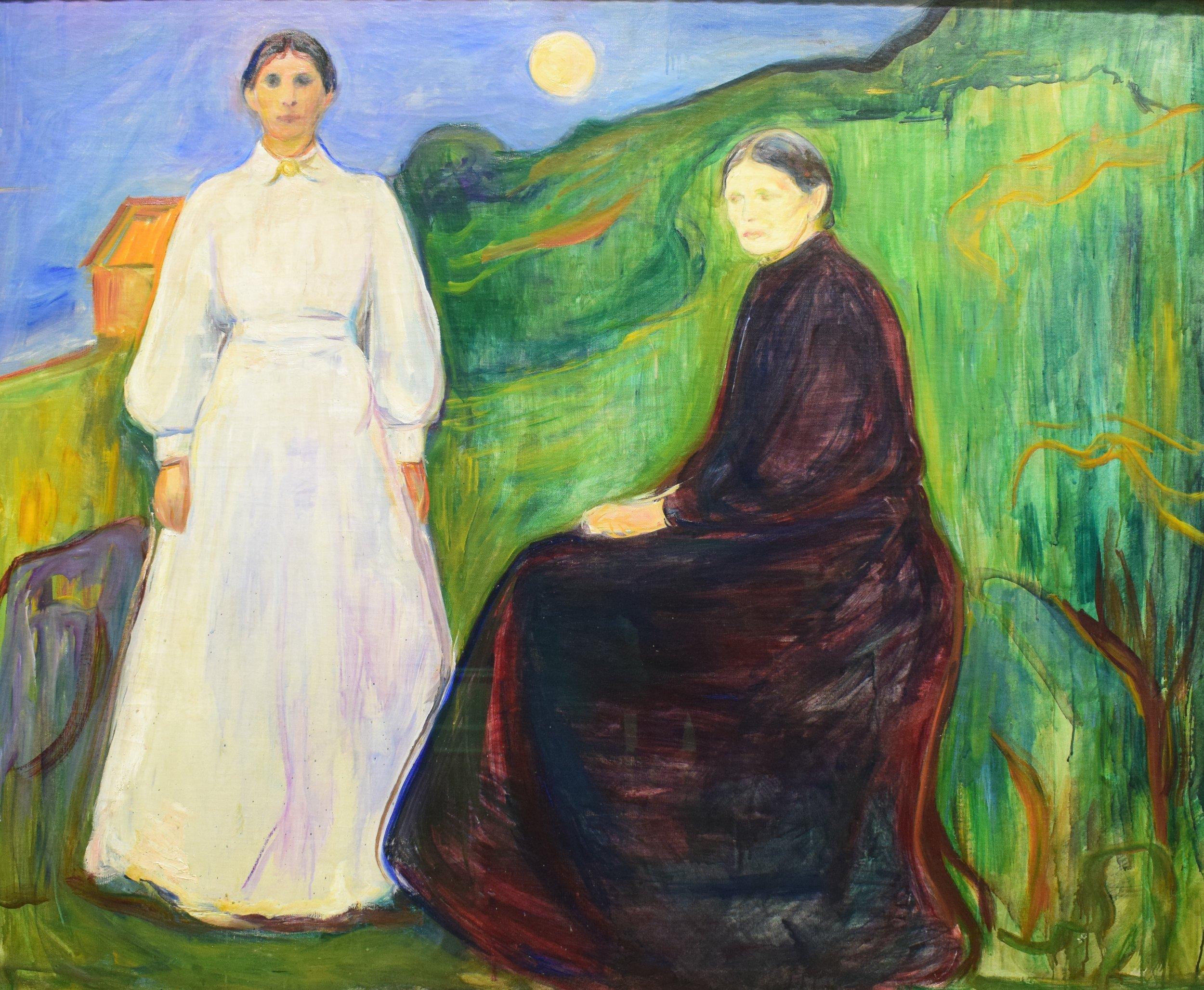 Edvard Munch, Mother and Daughter, 1897 or 1899, Nasjonalmuseet