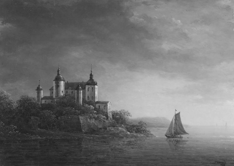 Carl Johan Fahlcrantz, Läckö Castle, 1834, Nationalmuseum,