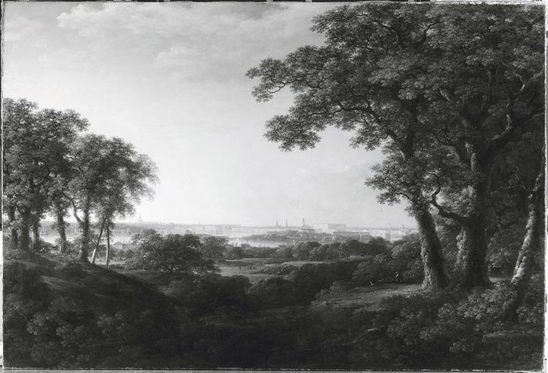 Carl Johan Fahlcrantz, View of Stockholm from Djurgården, 1820, Nationalmuseum