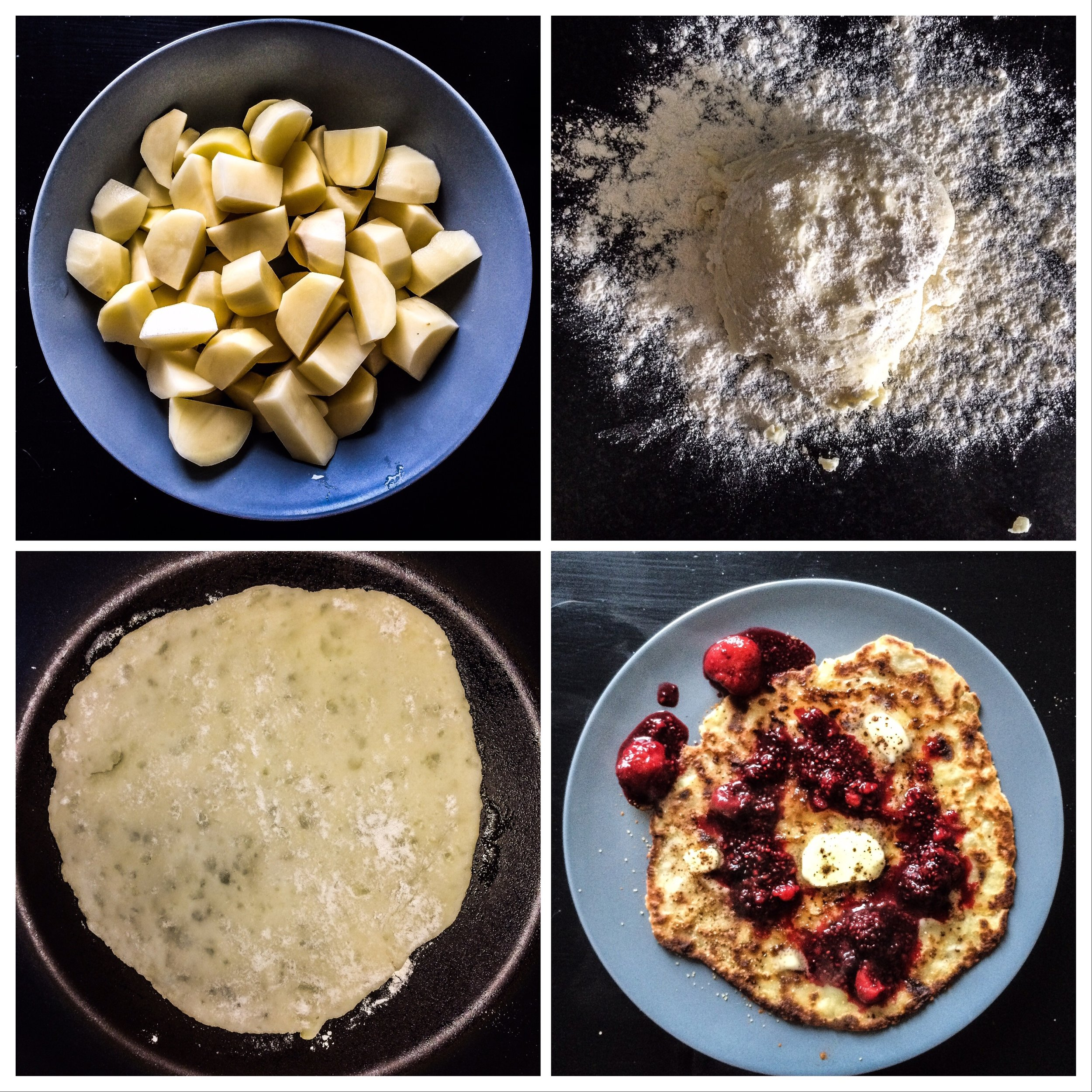 from a potato to a pancake