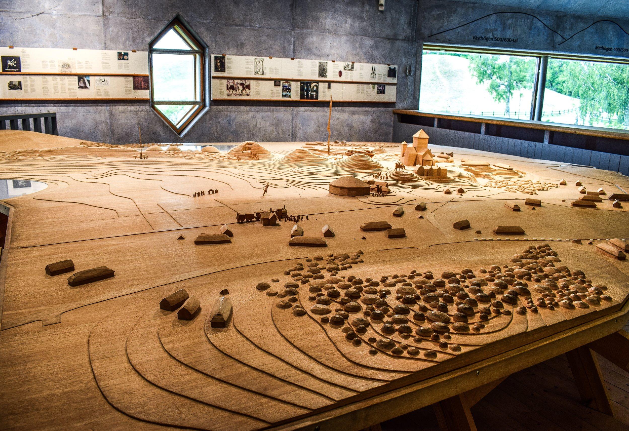 gamla uppsala carved in wood, gamla uppsala museum