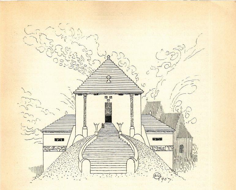 Carl Larsson, Temple of Memory, Ord och Bild, 1908
