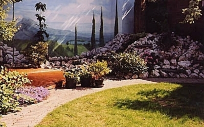 French Landscape in garden