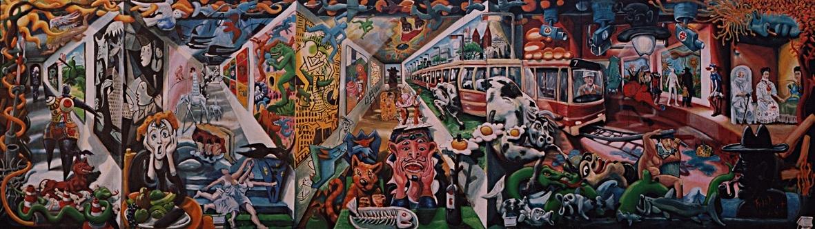 Painting  't gat in de markt '