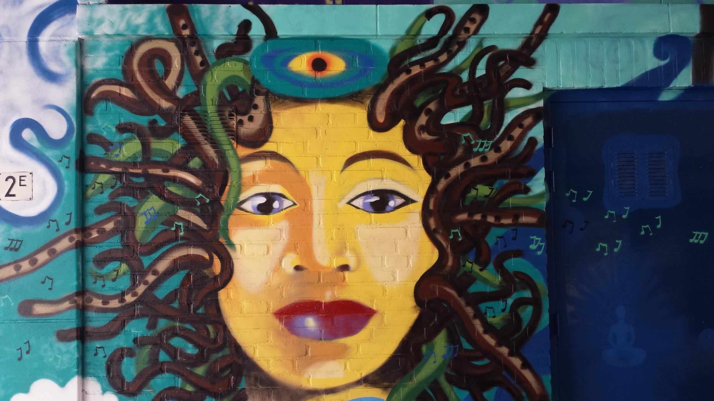 Medusa with flutes