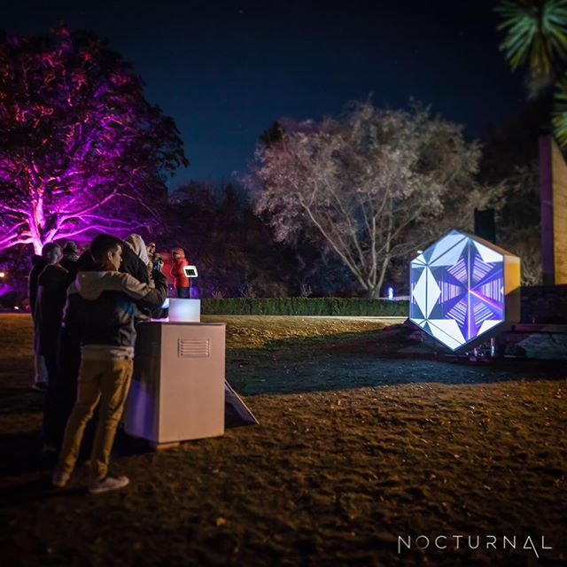 1 week to go! HEX is coming to @turamafestival next week in Auckland's Albert Park. Not to be missed! The festival is full of interactive experiences like HEX. Not to mention you can enjoy a warm mulled wine whilst you walk around the park and enjoy the art. See you all next week!  #turama #nocturnal #lightfestival #turamafestival #lightart #art #touchdesigner #interactiveart #projection #midifighter