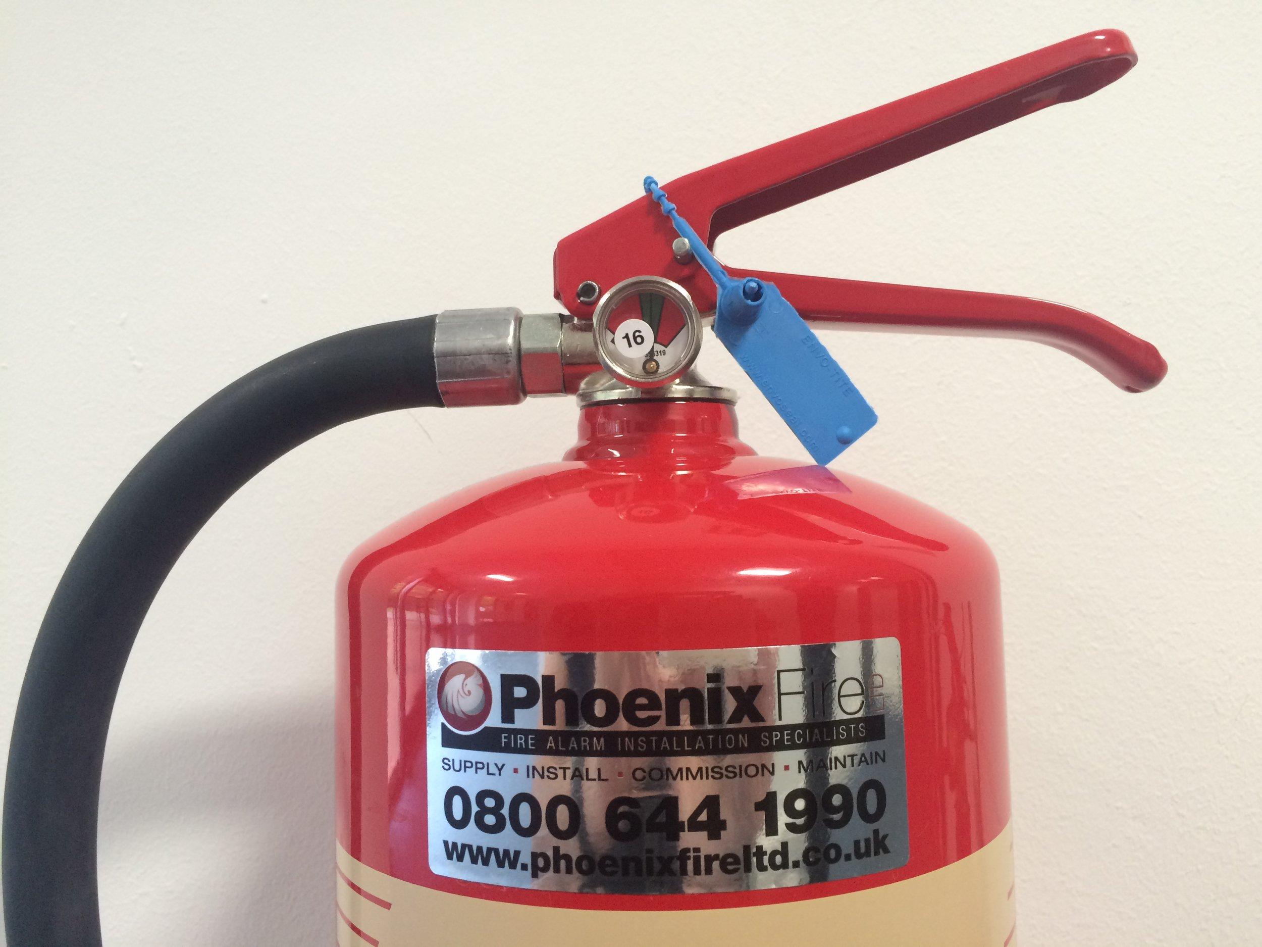 Phoenix Fire branded extinguisher