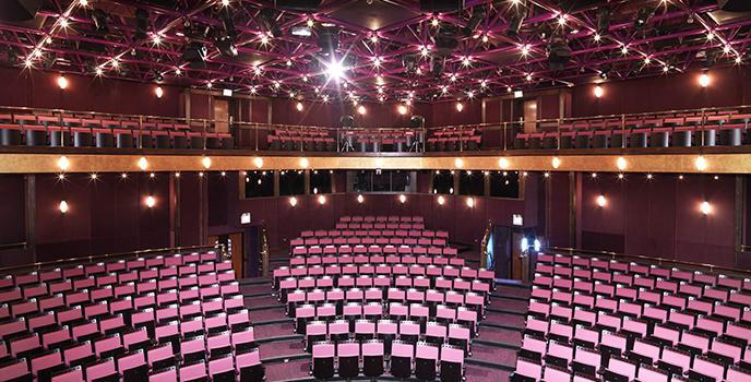 Go backstage at central bank auditorium - Central bank auditorium