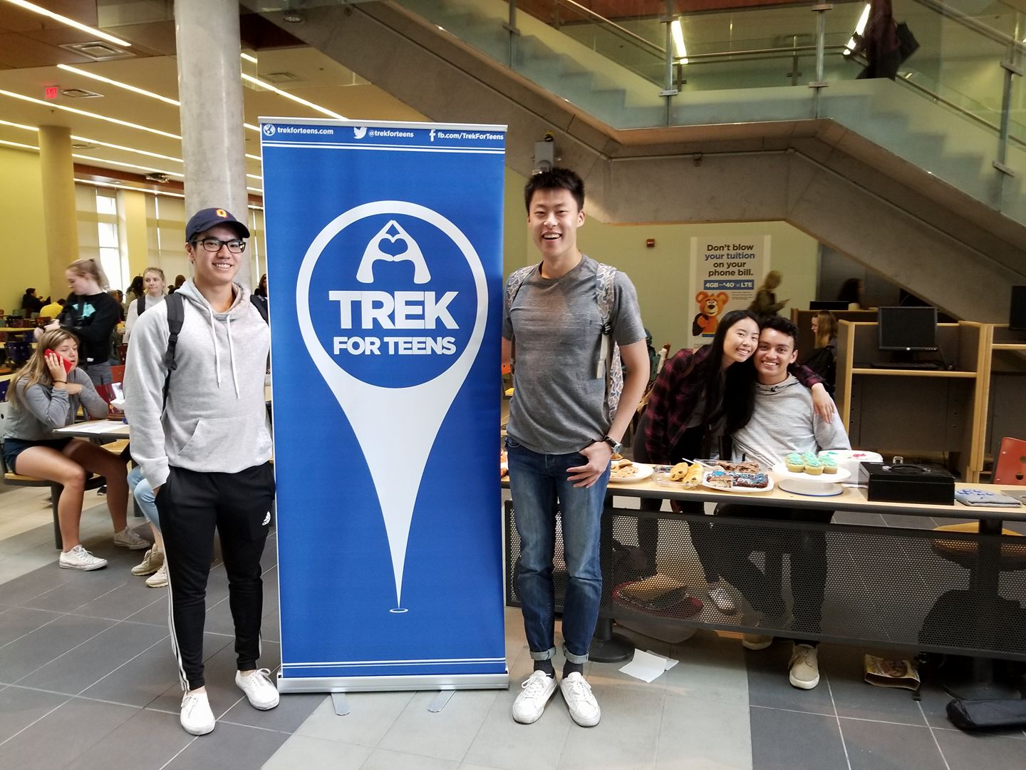 On Sept 29, Trek for Teens Kingston held a bake sale to raise awareness of Trek for Teens, and reached approximately 200 people!