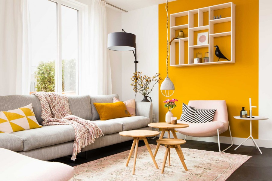 ochre and coral color combination