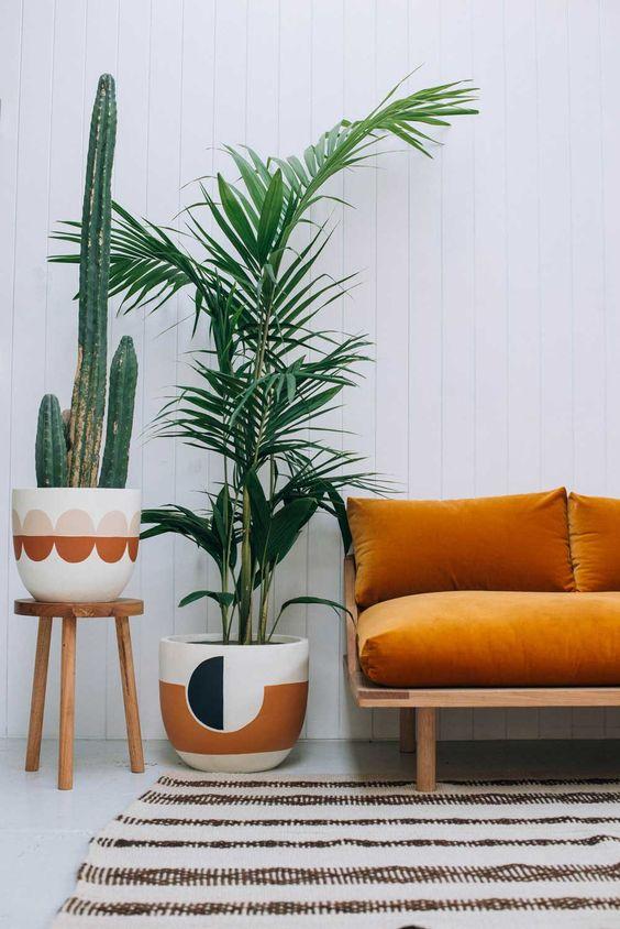 orange velvet sofa
