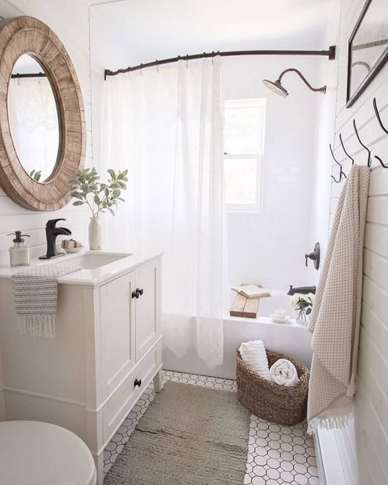 neutral washroom design