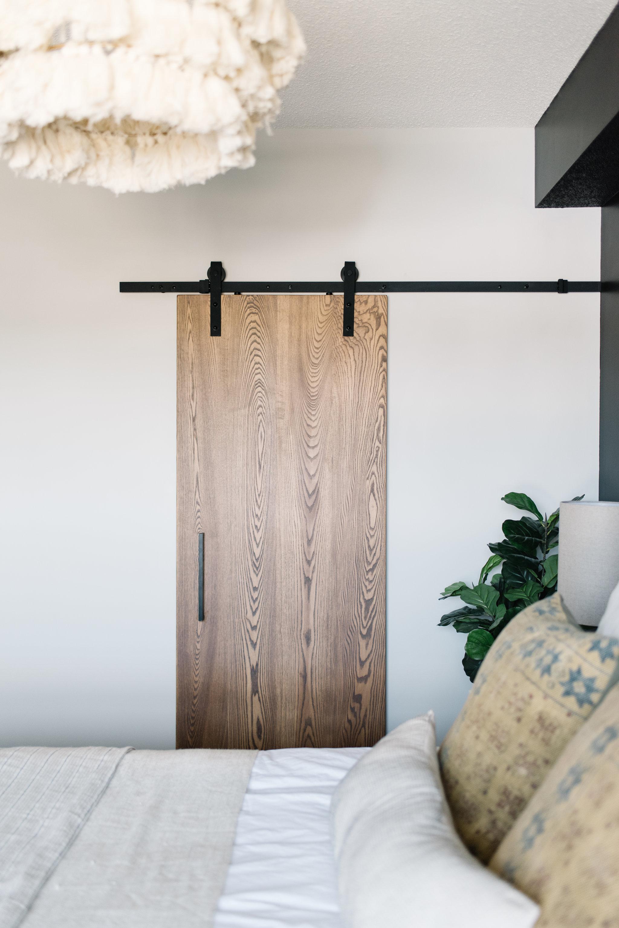 modern wooden barn door