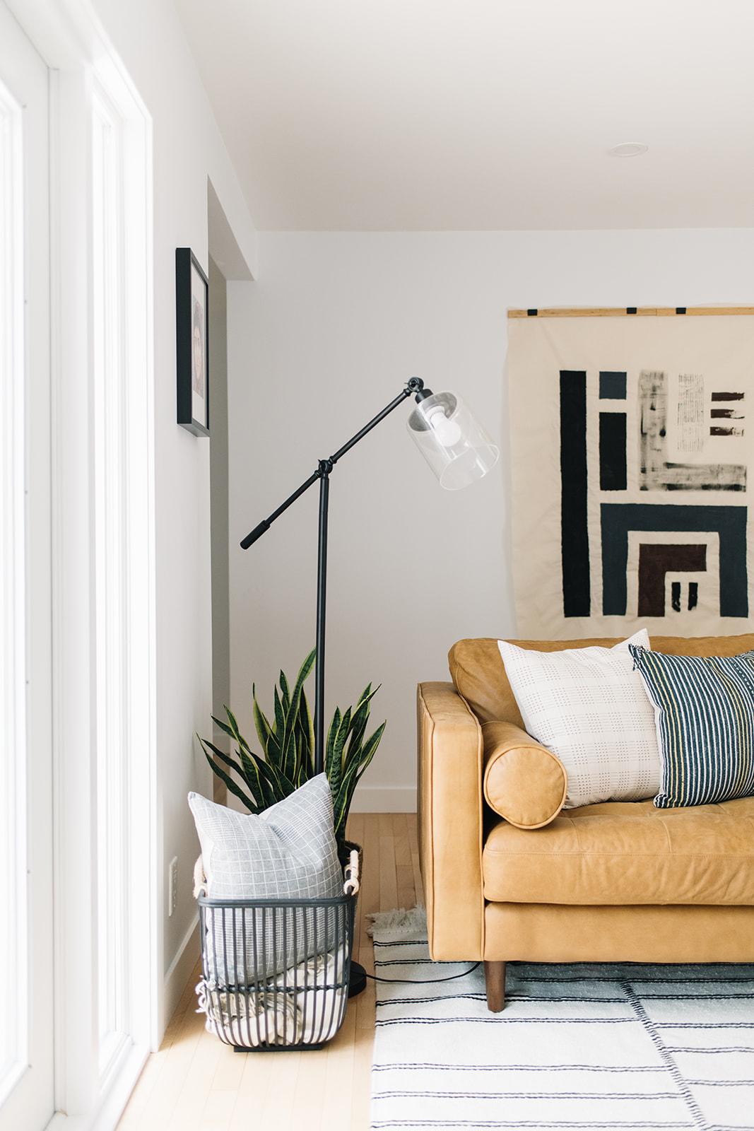 cozy modern living room, edmonton interior designer