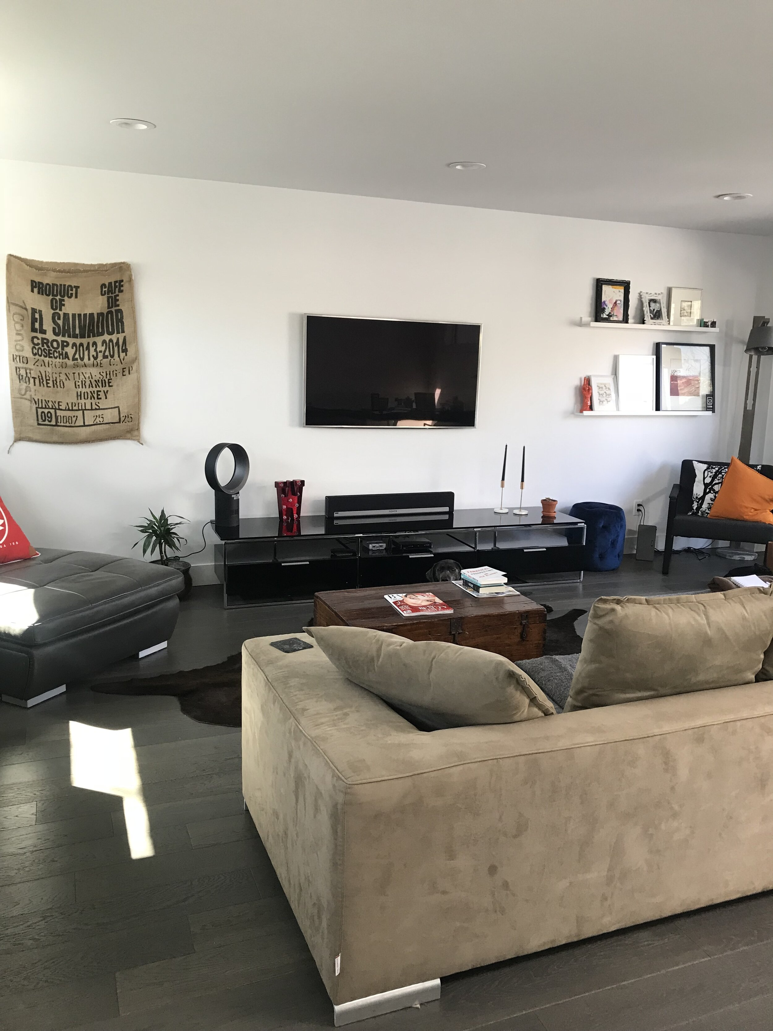 living room makeover - before