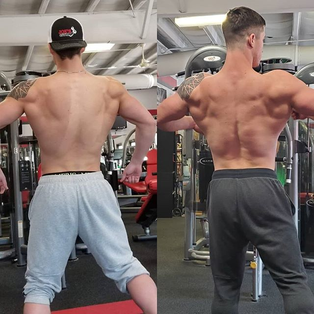 Been working with Ashton since he was a junior in high school.  Still 19 years old now and 4 weeks out from his first NPC Show.  Ashton took the Teen Iowa win in 2017 at 180lbs (Left) sitting at 218lbs now (right) The work ethic and drive I've seen him put in from the beginning is un matched!!! Can't wait to see him take stage again soon!!!