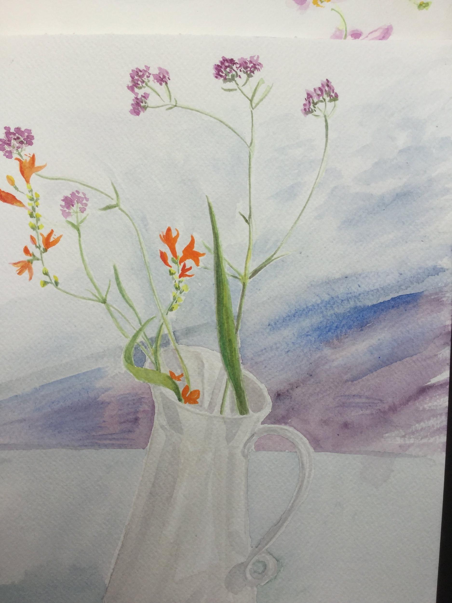 Still Life Flowers in a Jug