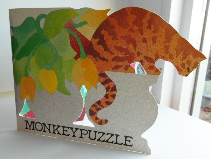 Cat Monkeypuzzle Card