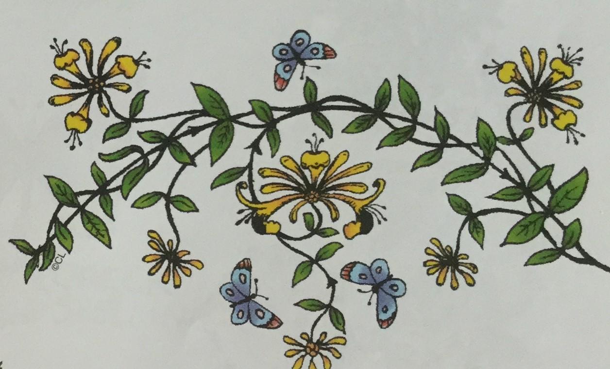 Honeysuckle Garland