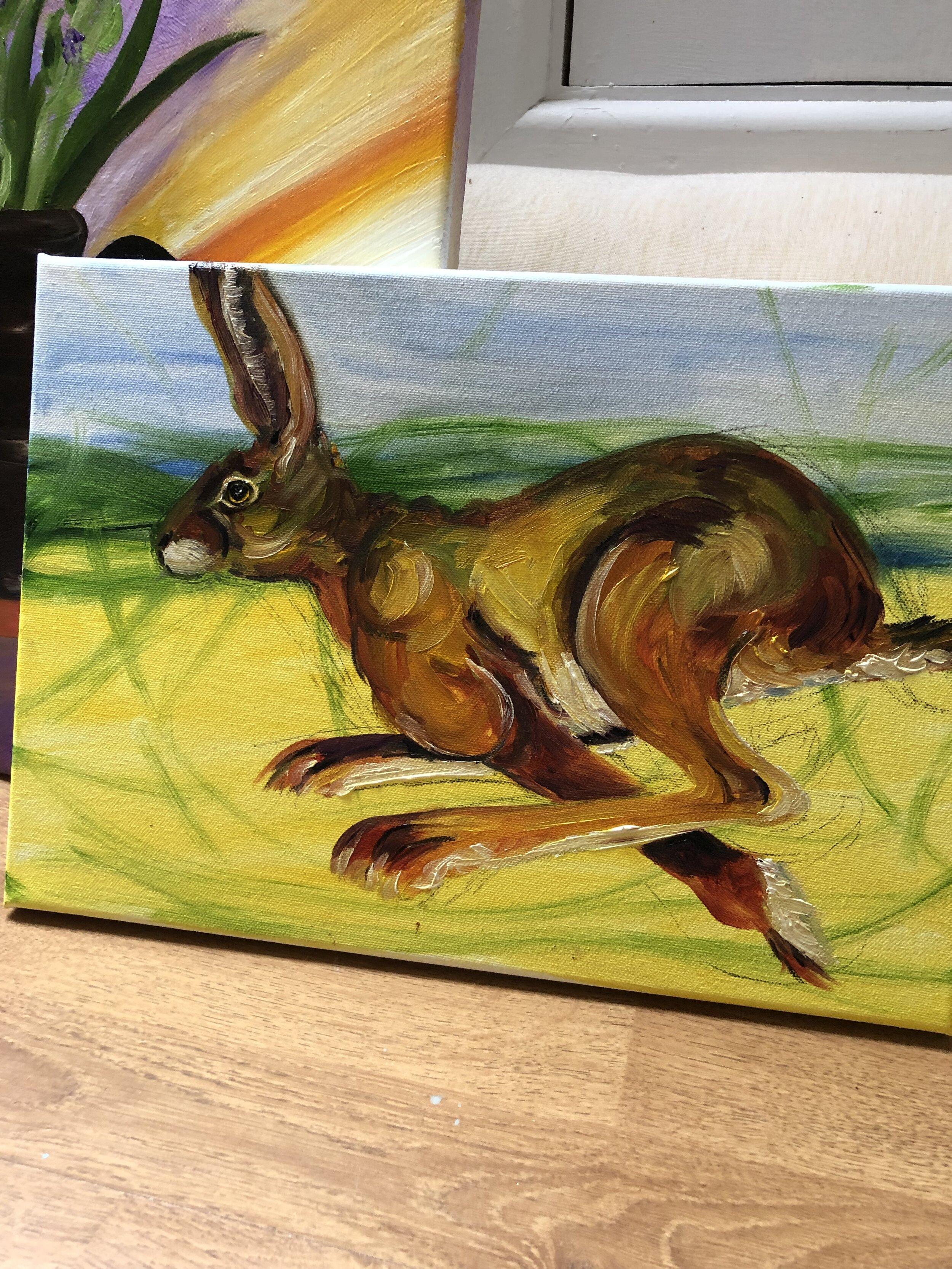 Fleeing Hare